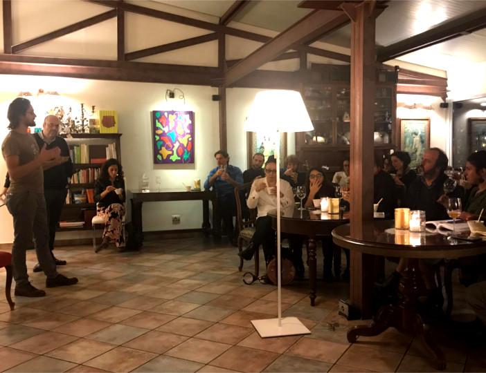 Filippo Civran ospite della serata Slow Food dedicata alla fermentazione spontanea presso La Limonaia dello chef Cesare Grandi