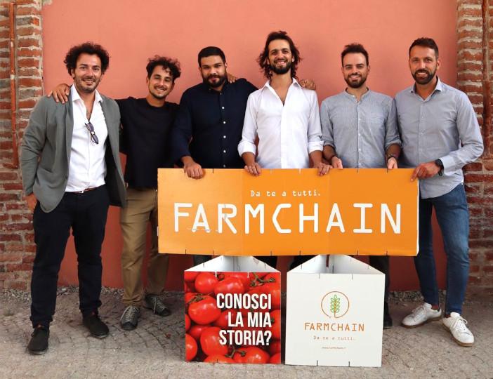 La squadra di Farmchain: Fabrizio De Masi, Giuseppe Funicello, Giorgio Cau, Filippo Civran, Francesco D'Alia e Luca Femia.